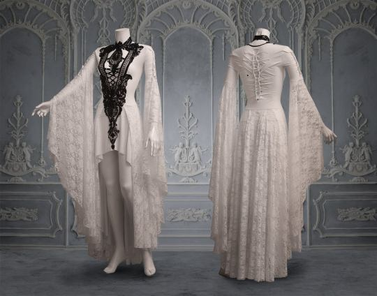 Gothic wedding dresses by WulgariaStore on Offbeat Bride (1)