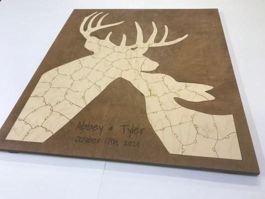Custom Deer Puzzle Wedding Guest Book Alternative