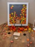 Fall Leaf Drop Top Guest Book