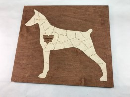 Wooden Dog Puzzle Guest Book Alternative