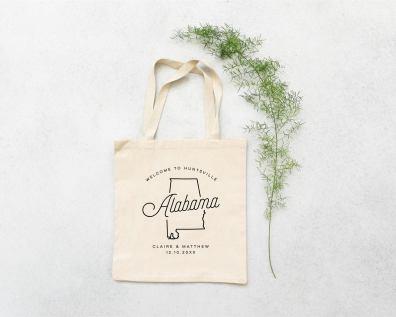 Alabama personalized wedding tote