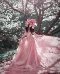 Fairy Couture Blush Wedding Dress by Julia Miren Dresses on Offbeat Bride