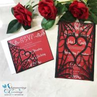 Laser cut wedding invitations by Shimmering Ceremony on Offbeat Bride (1)