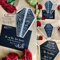 Laser cut wedding invitations by Shimmering Ceremony on Offbeat Bride (2)