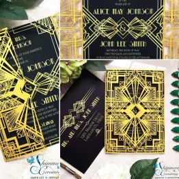 Laser cut wedding invitations by Shimmering Ceremony on Offbeat Bride (7)