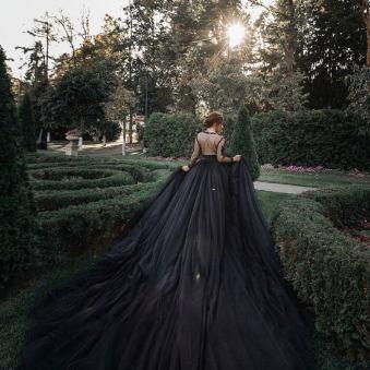 gothic two piece ballgown by julia miren dresses