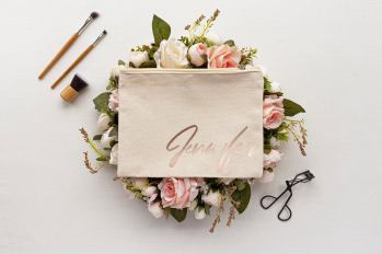 personalized makeup bag for bridesmaid by made nala