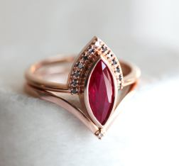 ruby ring on offbeat bride