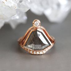 salt and pepper one of a kind ring by minimal vs
