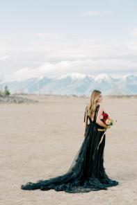 Black wedding gown by French Knot on Offbeat Bride