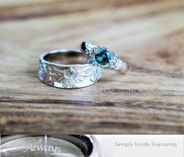 C9TTUNGSTEN custom engraved wedding rings (8)