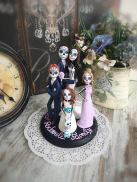 blended family goth cake topper by TopTopperShop on Offbeat Bride