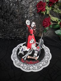 customized skeleton goth cake toppers on offbeat bride