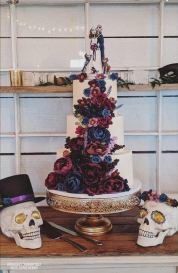 goth wedding cake topper from TopTopperShop as seen on Offbeat Bride
