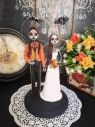 skeleton bride and groom cake topper by TopTopperShop on Offbeat Bride