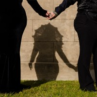 Wait until you see the outfits at this gothic gay cemetery wedding