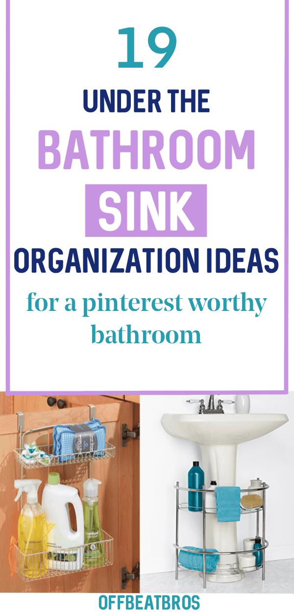 under sink organization ideas for bathroom