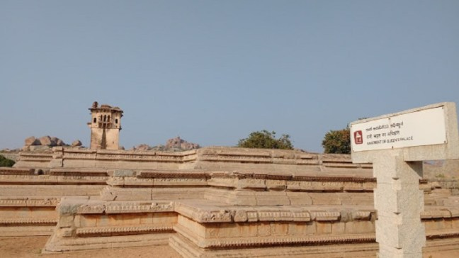 Queen Palace - Lotus Mahal -Elephant Stable - Hampi Ruins, Places to visit in Hampi