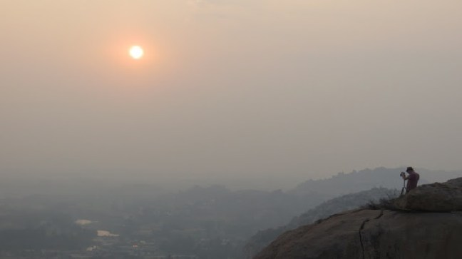 Sunset views from Hanuman Temple, Hampi
