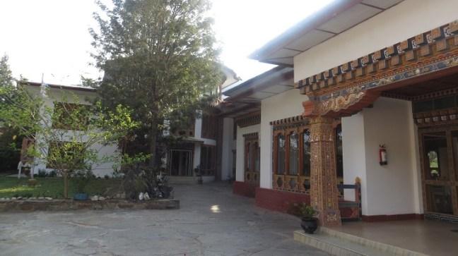 Entrance of Damchen Resorts in Khuruthang, Punakha, Bhutan Hotels, Budget hotels in Bhutan, Bhutan backpacking, Bhutan Travel, Homestays in Bhutan