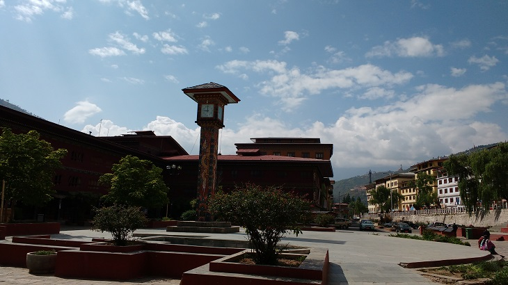 Clock Tower at Thimphu, Bhutan, Bhutan Tourism, Things to do in thimphu, places to visit in Thimphu,
