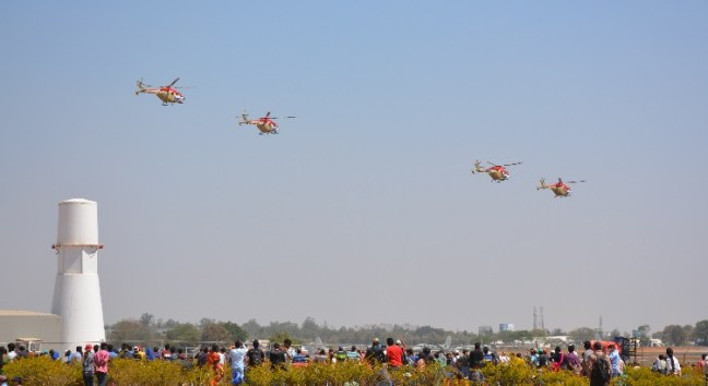 Helicopters at Helicopters at Aero India Show, Bangalore Air Show 2017, Aero Show 2017, Indian Air show