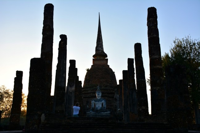Wat Sa Sai at Sukhothai Historical Park (Angkor Wat of Thailand) tour blog with details for opening hours, entrance fee and how to get there -Thailand back-packing trip