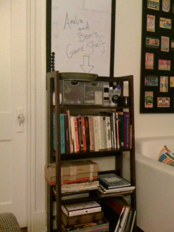 Amelia and Ben game shelf