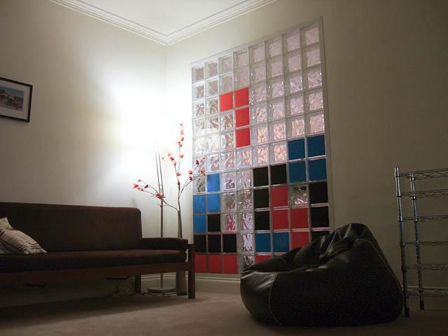 glass brick tetris wall