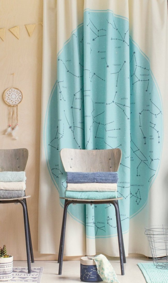 Danica Studio Shower Curtain, Galaxy