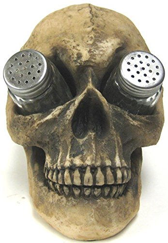 What, YOU don't use a skull to hold your salt and pepper shakers?