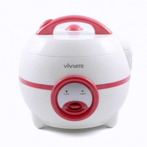 The Vivarte Electric Rice Cooker (3 cups) is so cute, I want to adopt it -- $39