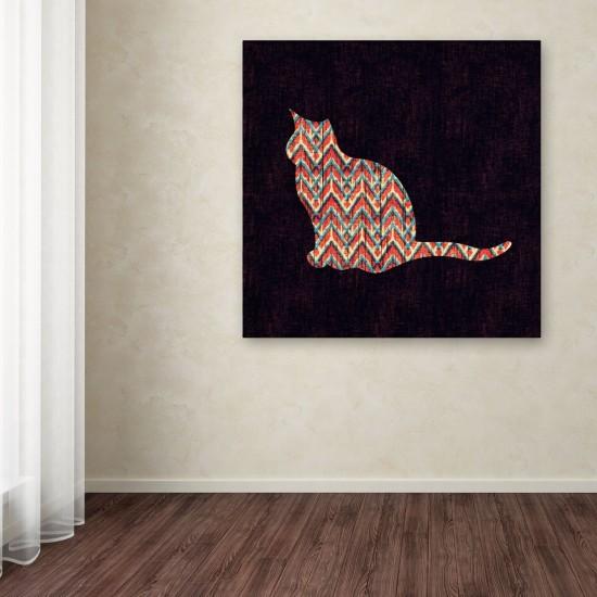 Ikat Cat Canvas Art by Budi Satria Kwan, $58.63