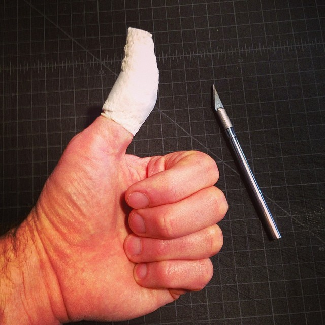using an x acto knife