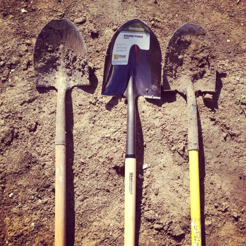 Blunted shovels mean hard work has happened