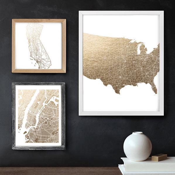 map art prints