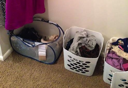 baskets for laundry piles