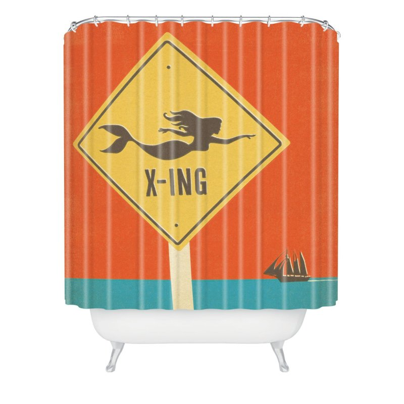 DENY Designs Mermaid X Ing Shower Curtain