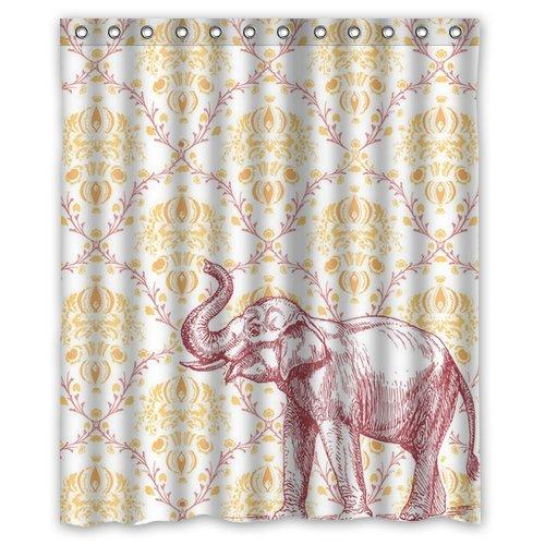 Fashionable Gorgeous Elephant Shower Curtain