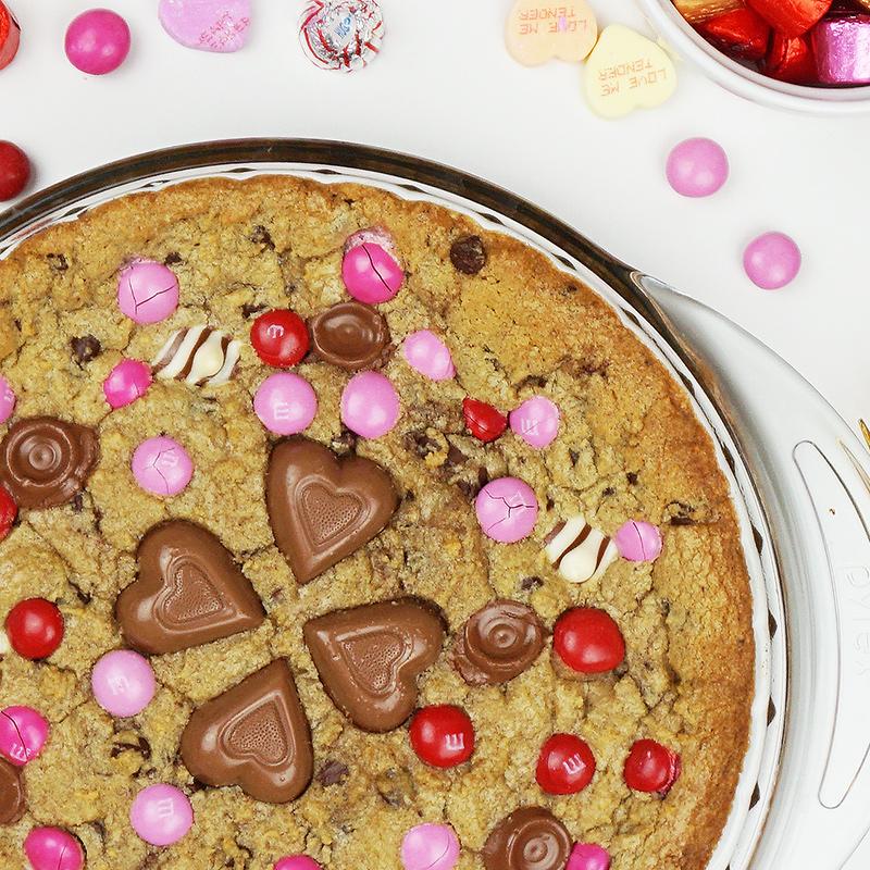 Loaded cookie pie as seen on @offbeathome #valentinesday #cookiepie