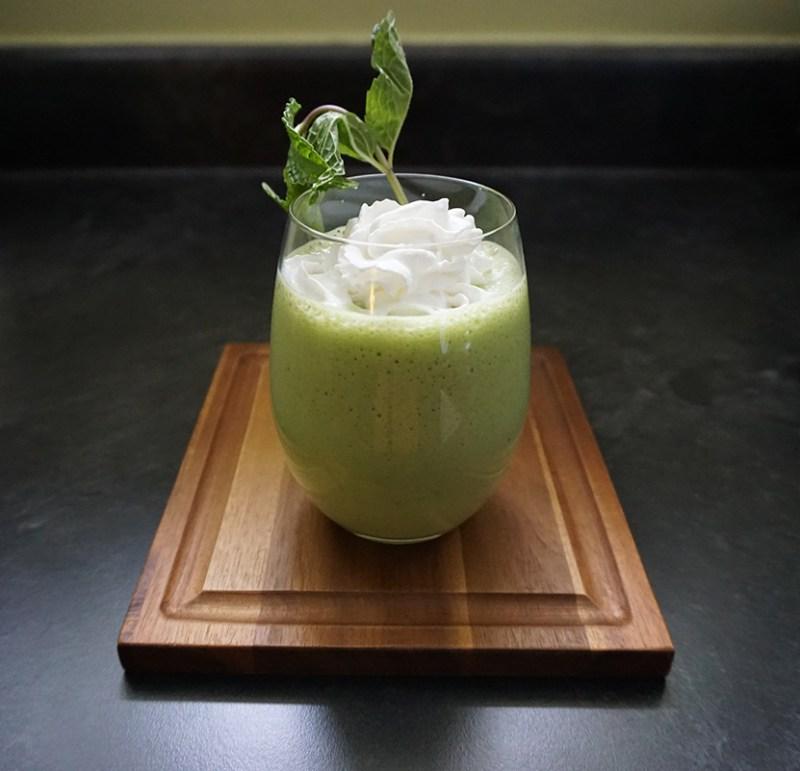 Healthy shamrock shake as seen on @offbeathome #protein #smoothie