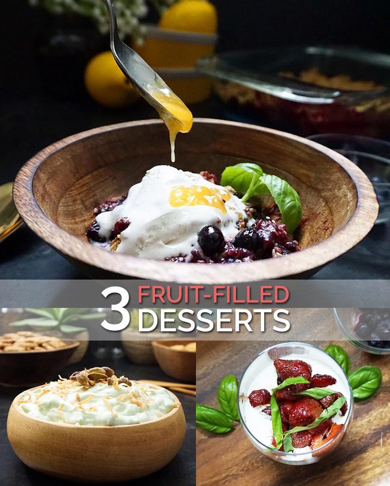 Fruit dessert recipes as seen on @offbeathome #fruit #dessert