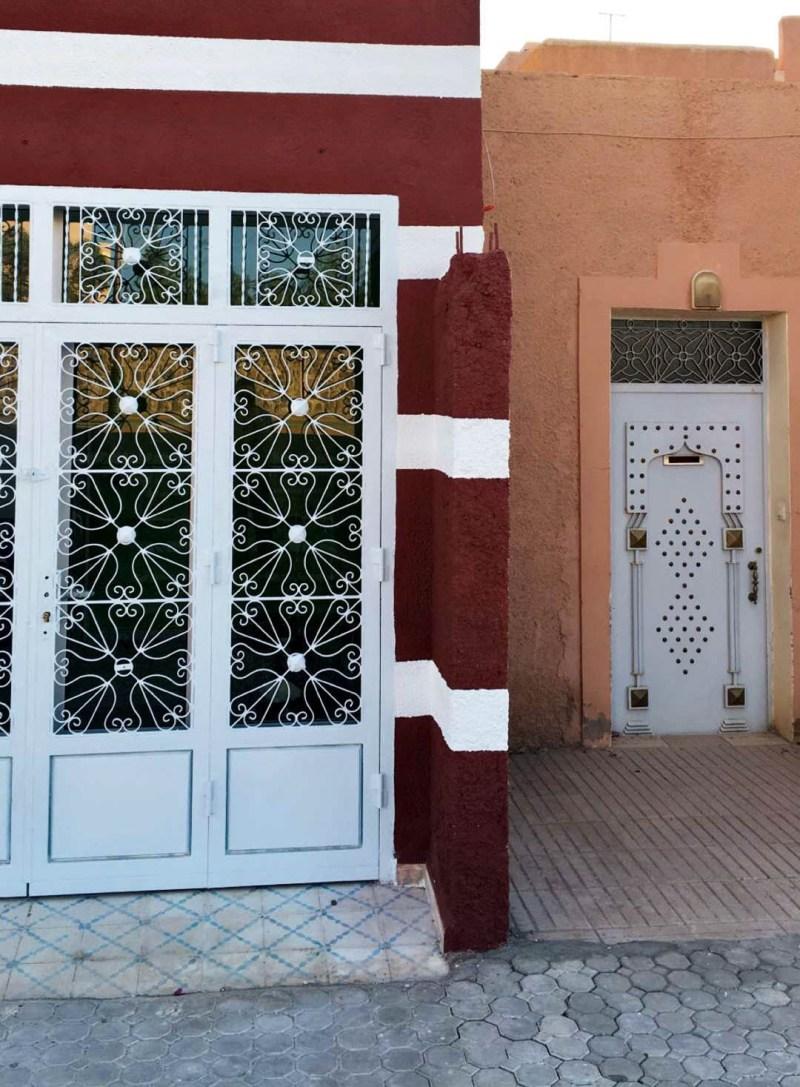 white doors in morocco
