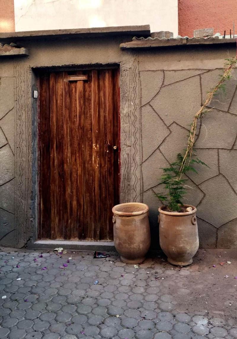 wooden door in morocco