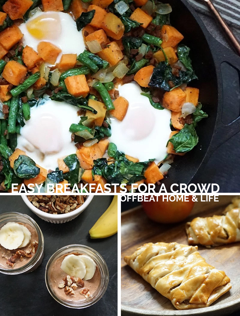 Easy breakfast recipes to serve a crowd as seen on @offbeathome #breakfast #recipes