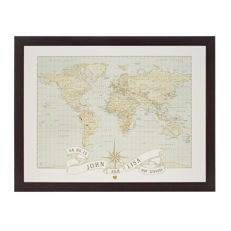Personalized Wedding and Anniversary Pushpin Map