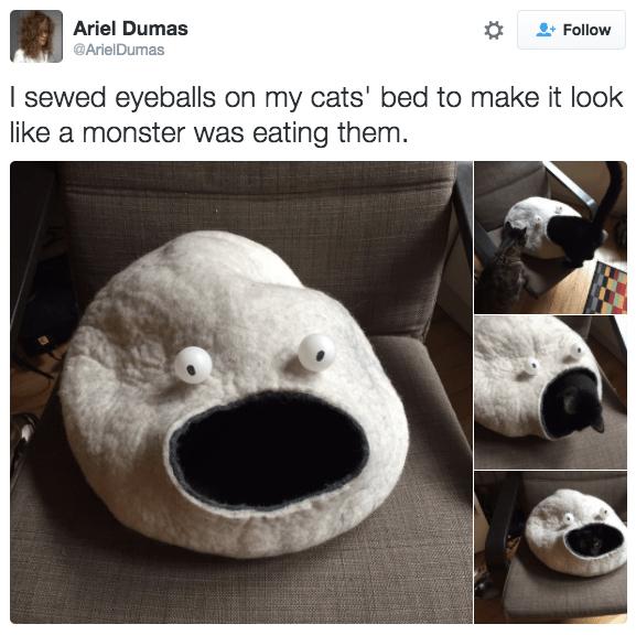monster-cat-bed