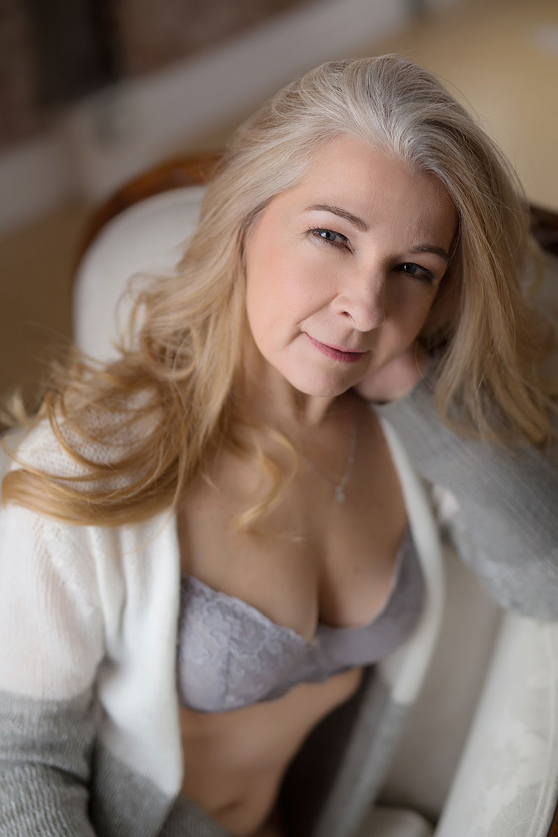 Try not to be empowered by this stunning 60th birthday boudoir session