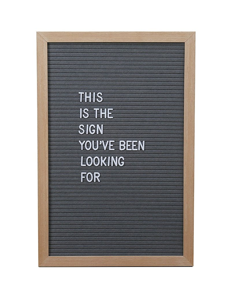 Channel '80s classrooms with a letterboard