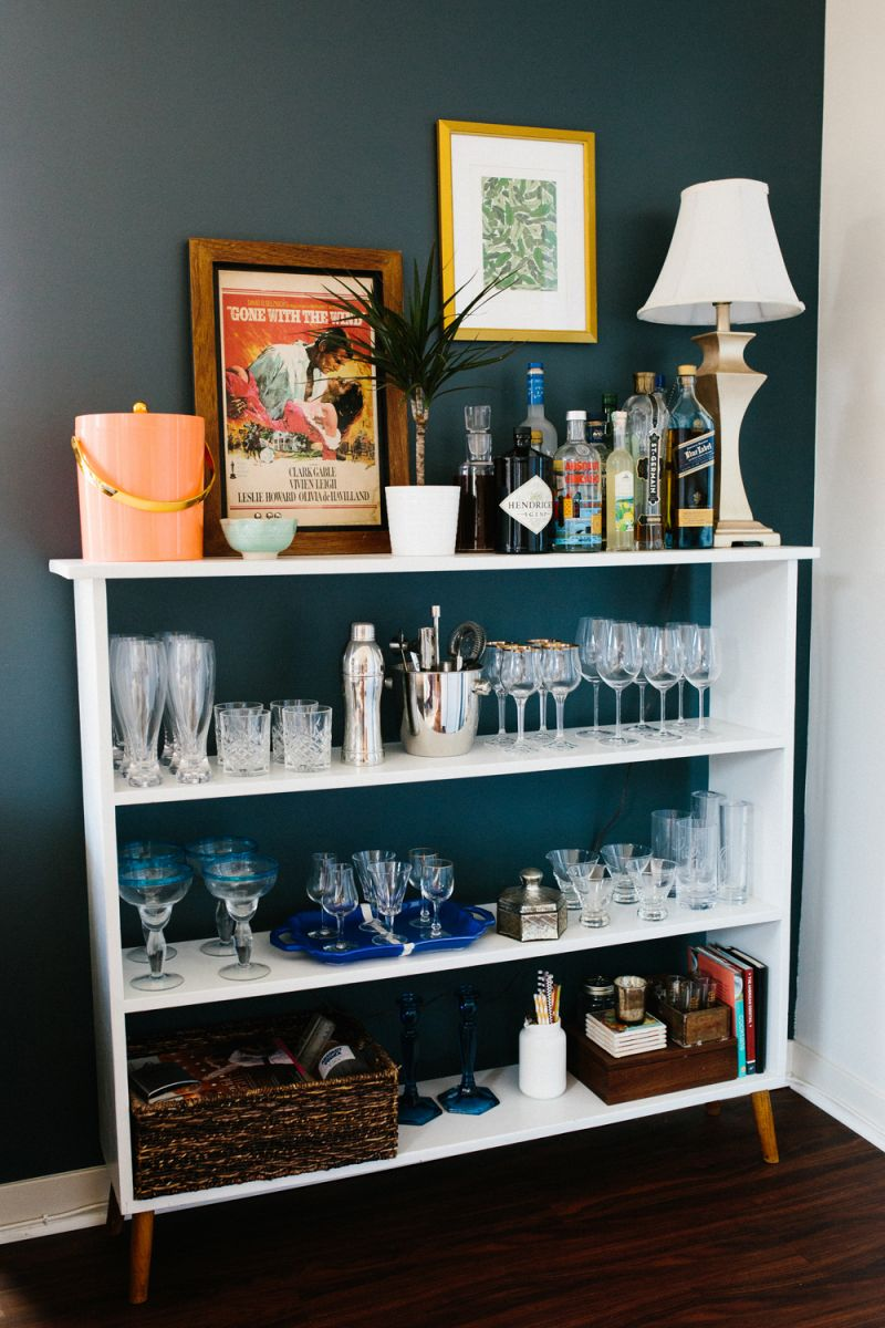 Everything you need on an alternative bar cart for swanky soirees
